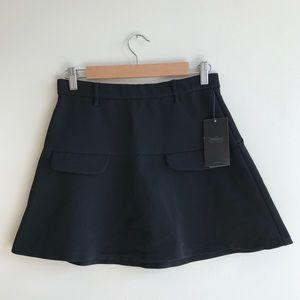 NWT Zara Trafaluc Black Skater Skirt with Pocket